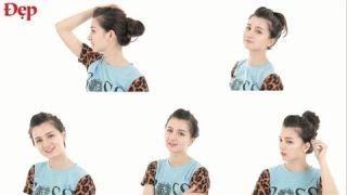 5 kiểu búi tóc tránh nóng ngày hè - Le Media JSC [Official]