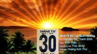 30/4/75 Bỏ Lại Quê Hương, ca sĩ Hoàng Anh Thư hát