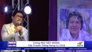 PHÓNG SỰ CỘNG ĐỒNG: Tưởng nhớ cố ca nhạc sĩ Việt Dzũng - Giải Truyền Thông Hưng Ca 2018