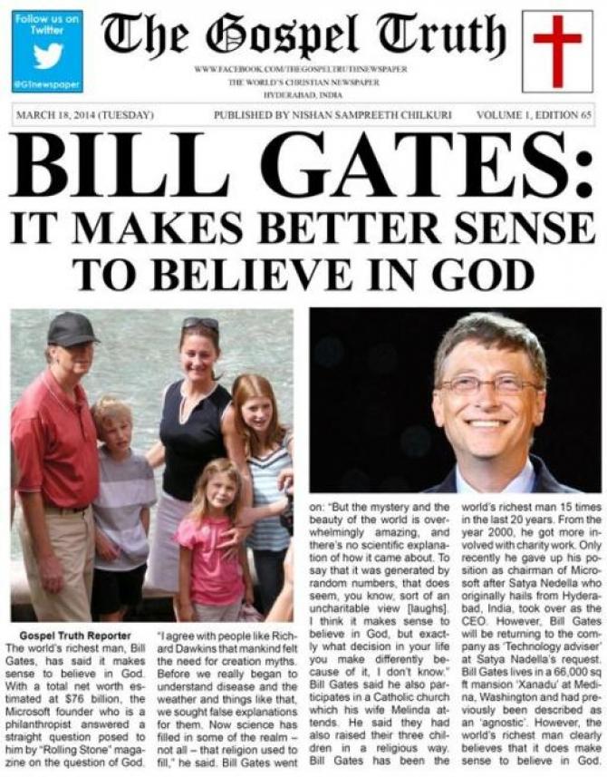 """Bill Gates: """"Tin Chúa Là Khôn Ngoan"""" - Phạm Việt Hưng"""