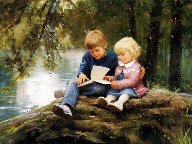15 bức tranh sơn dầu tuyệt đẹp về trẻ em