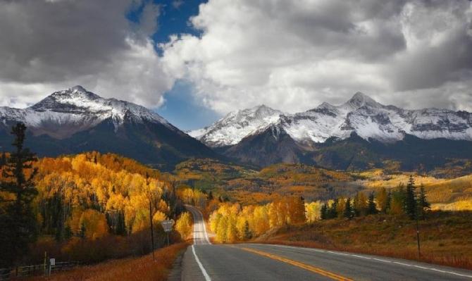 Giao thoa 2 mùa Thu, Đông ở Colorado, Mỹ