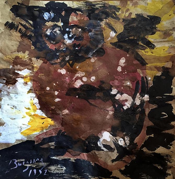 Đấu giá nghệ thuật: Kiệt tác Bùi Xuân Phái số 1, 'kịch tính' tranh Bùi Giáng