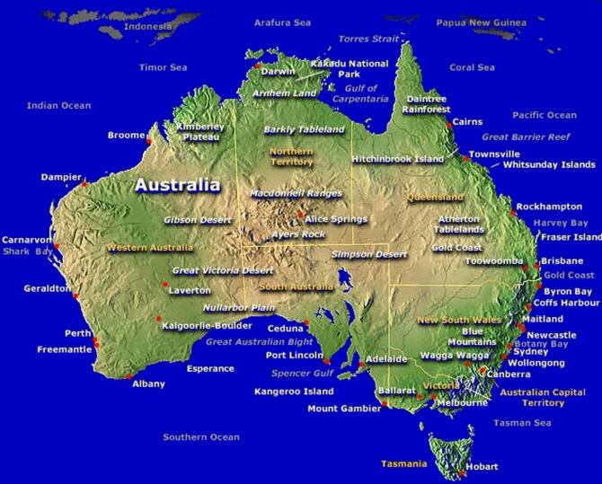Úc Châu qua một lần ghé thăm