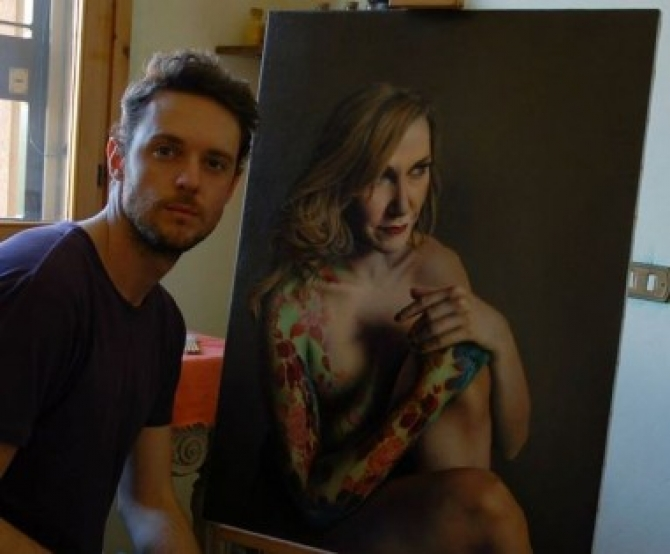 Họa Sĩ Mraco Grassi vẽ tranh sống động như ảnh chụp