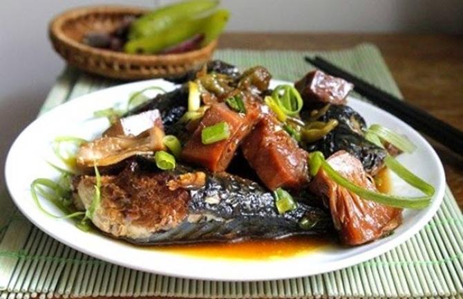 Mít non kho với cá chuồn – Món ngon xứ Quảng