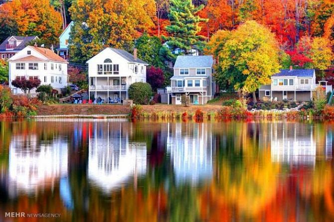 Cảnh sắc quyến rũ của mùa thu nước Mỹ