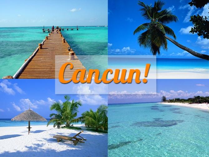 Cancun nắng vàng biển xanh